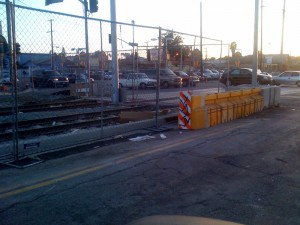 Expo Line. Western Ave. station construction