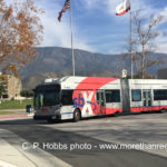 sbX bus at Cal State University San Bernardino