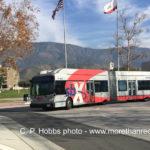 sbX bus at Cal State University San Bernardino